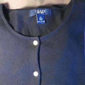Chaps Lightweight Cardigan  Navy Blue XL